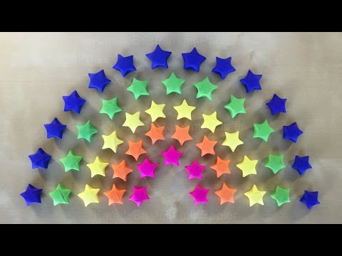 Origami Stars: How to make origami paper stars - DIY - Tutorial