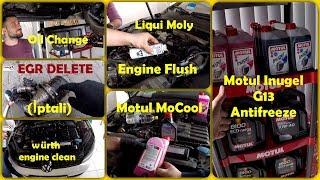 Motor İçini Nasıl Temizleriz ?(Engine Flush) | Motul MoCool - G13 Antifreeze | Liqui Molly | EGR
