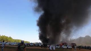 Air show 2019 fire accident gate5