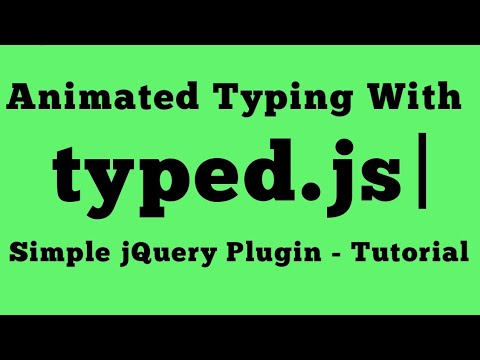 How To Create A Typewriter / Typing Text Effect In HTML Using CSS & JQuery