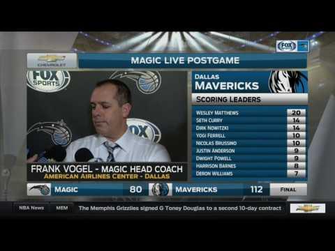 Frank Vogel -- Orlando Magic at Dallas Mavericks 02/11/2017