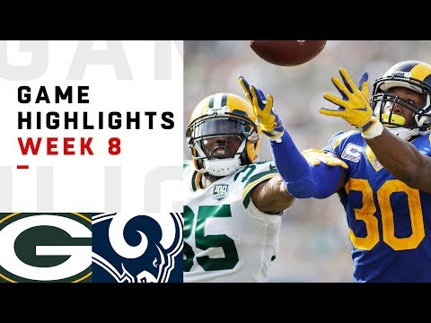 Packers vs Rams Week 8 Highlights  NFL 2018