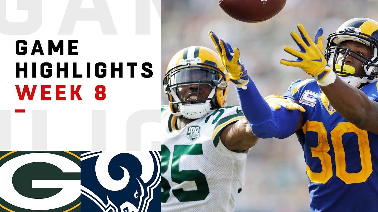 Packers vs. Rams Week 8 Highlights | NFL 2018