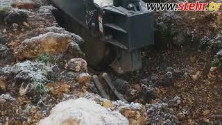 Praxisvideo Grabenfräse SGF 800 in der Schweiz im harten Jura Felsgestein