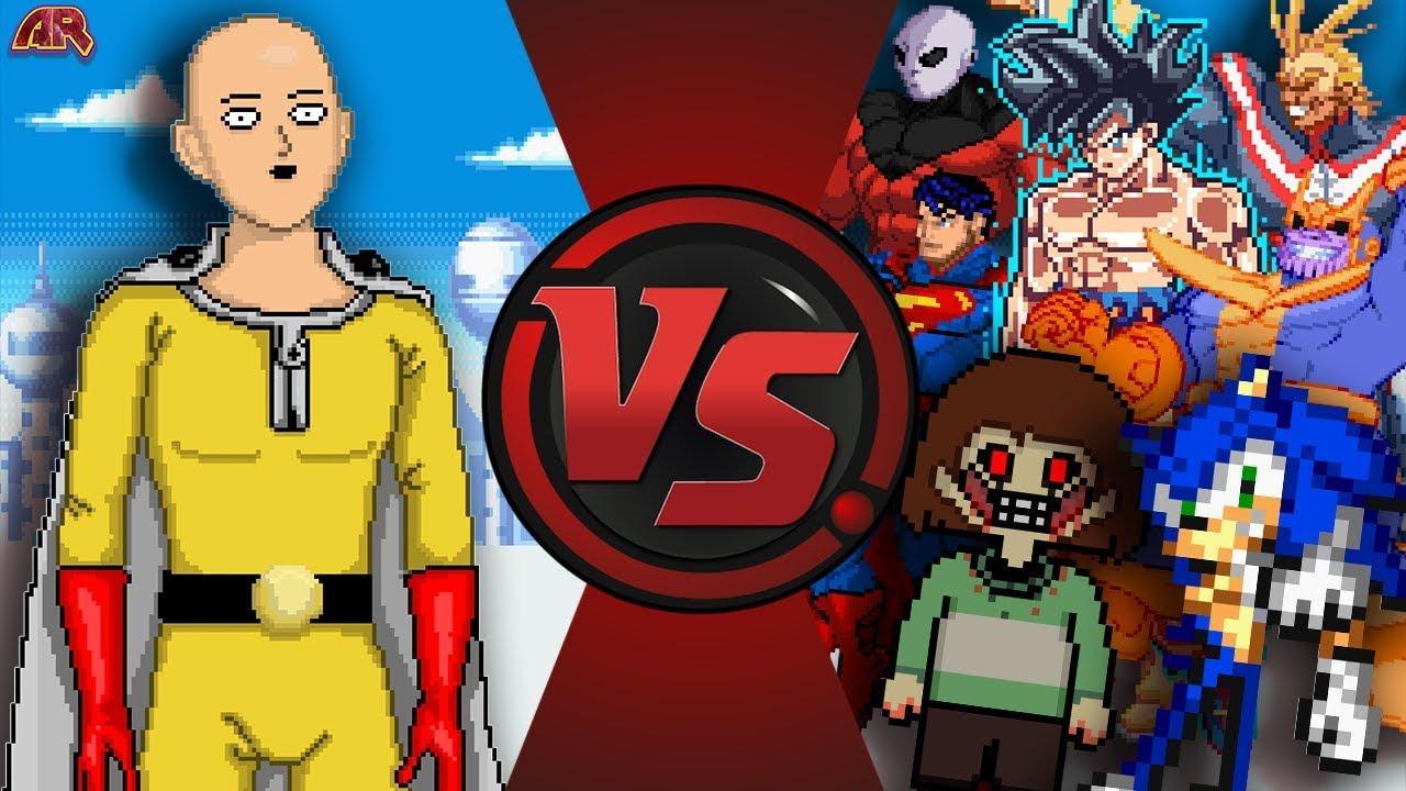 ONE PUNCH MAN Vs THE WORLD 2 Saitama Vs Sonic Goku Chara Thanos Jiren Amp More