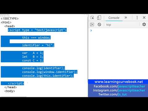 JavaScript Tutorial Part 3 - Difference Between var let & const thumbnail