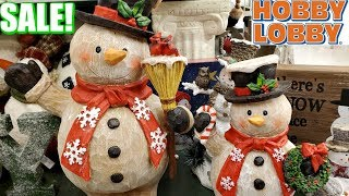 Hobby Lobby Christmas DECORATIONS SALE * SNOWMAN AND VINTAGE * SHOP WITH ME 2019