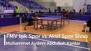 Muhammet AYDIN 3 (FMV Işık Spor) - Abdullah KANTAR 0 (Aktif Spor Sivas)