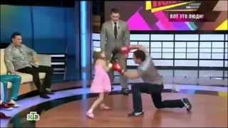 Little Girl Boxing With Her Father Amazing\fastest Girl From Kazakhstan
