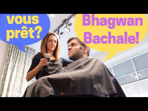First Haircut in French Canada - The Story of an AMAZING Hair Stylist in an everyday salon!
