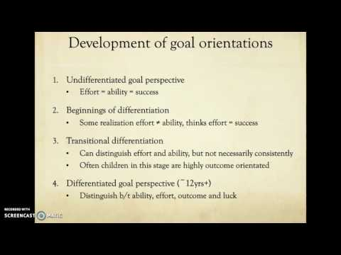 Achievement Goal Theory and Children