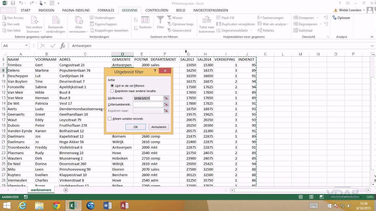 Excel 2013 Data Analyse 112 Algemeen 2