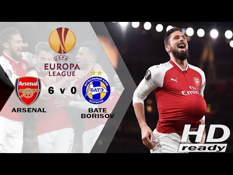 Arsenal vs BATE 6-0 UEL - Tundukkan BATE Borisov 6-0, Arsenal Jadi Juara Grup  Highlights 08/12/2017