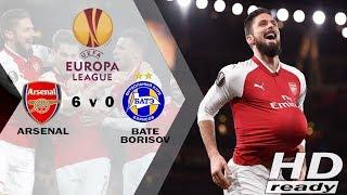 Arsenal vs BATE 6-0 UEL - Tundukkan BATE Borisov 6-0, Arsenal Jadi Juara Grup  Highlights 08/12/2017