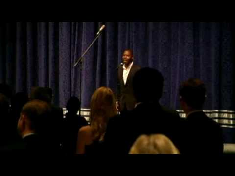 Lawrence Beamen performs the National Anthem at CORE