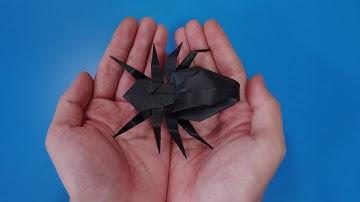 색종이로 거미 접는방법(종이접기) / 전통적인방법, Spider Origami / 折り紙クモ