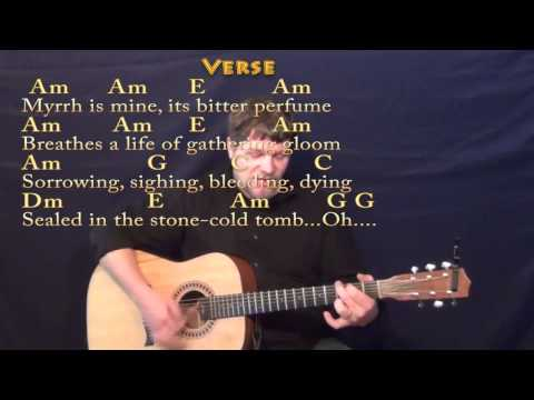 We Three Kings (Christmas) Strum Guitar Cover Lesson in Am with Chords/Lyrics