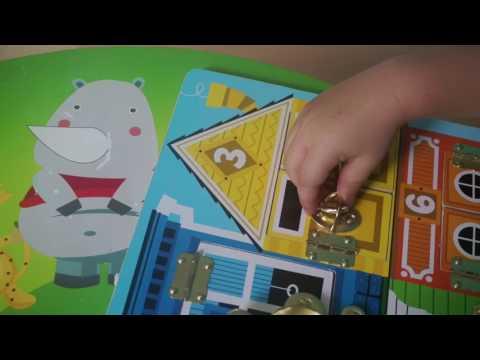 Развивающие игры. Развивающая доска с замочками. Учимся считать. Latched board.