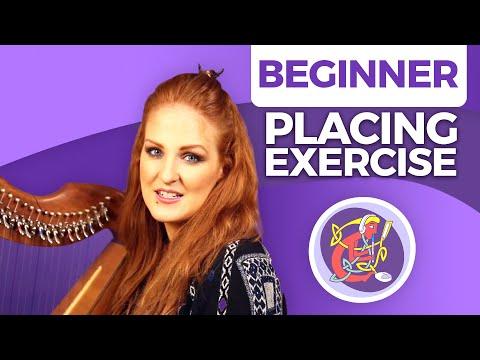 Irish Harp Lesson 2  The Basics CHIMES Placing Exercise