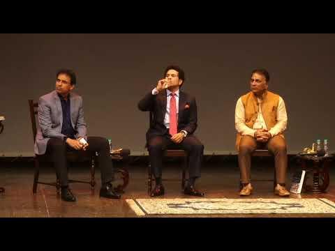 Democracy's XI: Sachin Tendulkar, Sunil Gavaskar & Harsha Bhogle with Rajdeep Sardesai