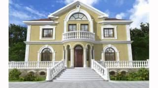 видео Дизайн фасада частного дома и одноэтажного загородного коттеджа