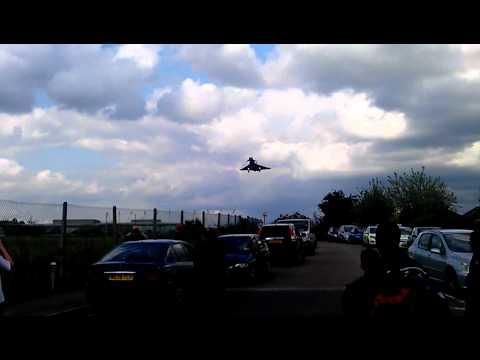 Typhoon landing at RAF northolt