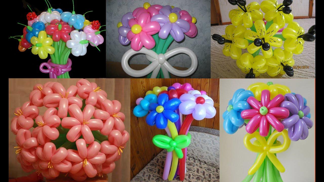Как сделать цветок воздушных шариков 93