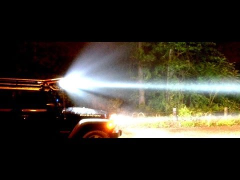7 Kc Pro Sport Hid 8 Quot Lights On Jeep Jku Youtube