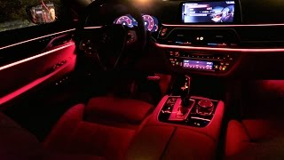2017 BMW 7 SERIES G11 750d Ambient Lighting ALL COLORS Detailed Presentation Test PL
