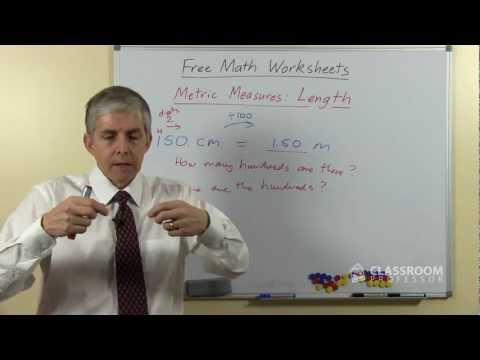 Teacher Math Lesson: Metric Measures of Length
