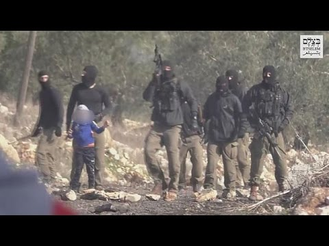 Palestinian child caught in IDF stakeout