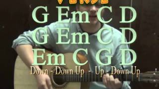Teardrops on My Guitar (Taylor Swift) Guitar Lesson How to Play Strum Chord Beginner