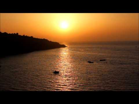 Sorrento and Capri  Italy-Relaxing sunset by the sea.