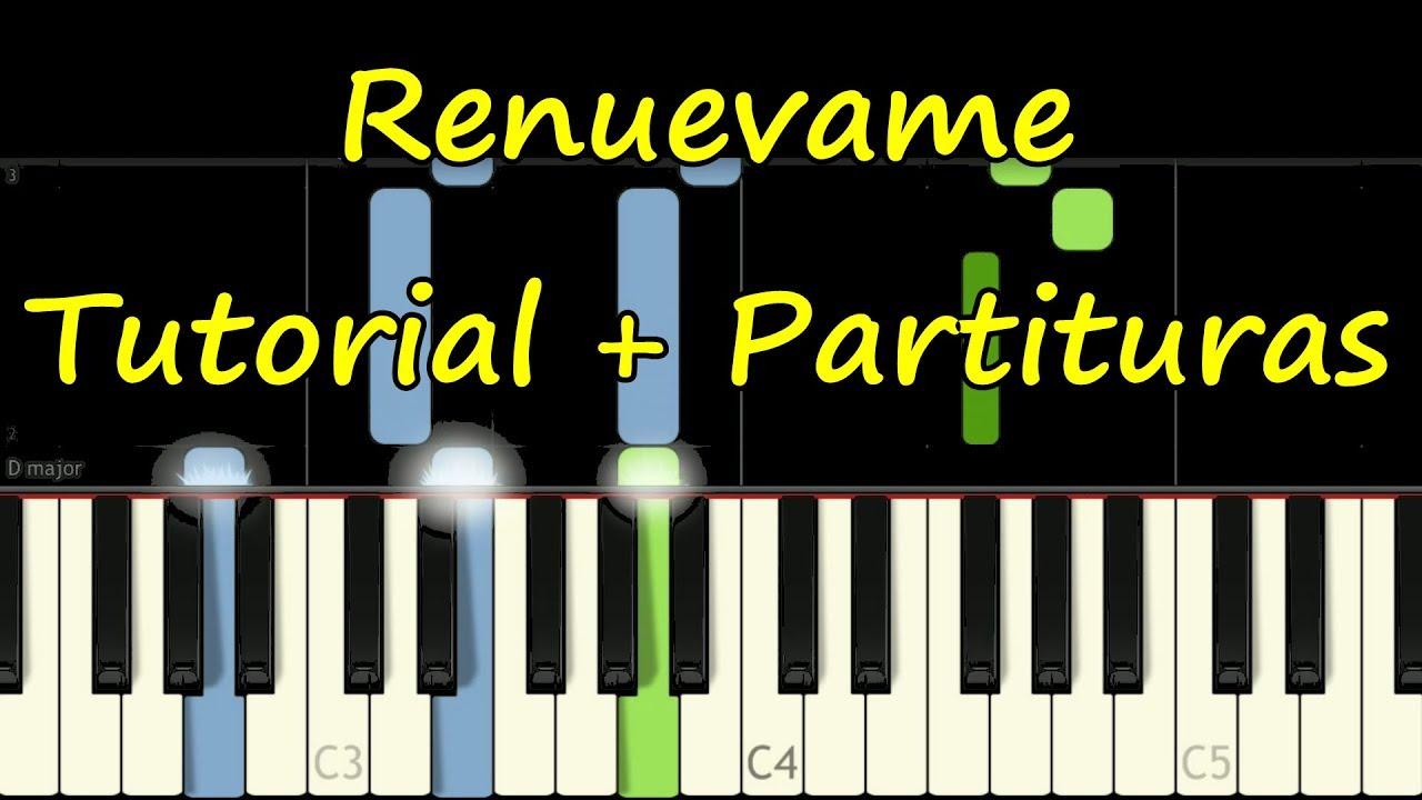 RENUEVAME - Marcos Witt - Tutorial Piano Facil + Partitura