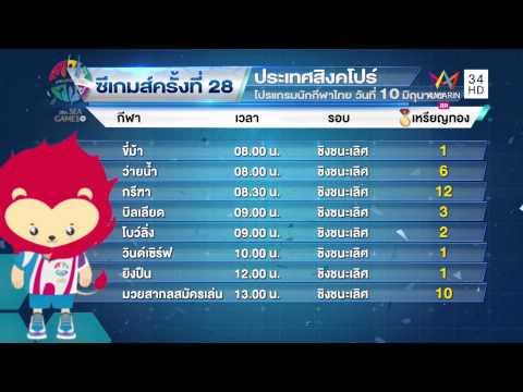 ทุบโต๊ะข่าว : ไทยซิวอีก 14 ทองซีเกมส์  ลุ้นบอลไทยชิงเต็งหนึ่งในสายพรุ่งนี้ 09/06/58