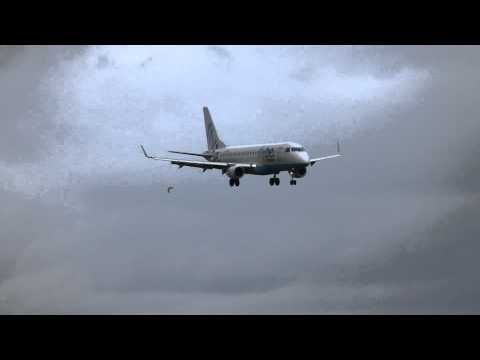 FLYBE Embraer ERJ-175STD landing to Guernsey Airport..Watch HD and full screen