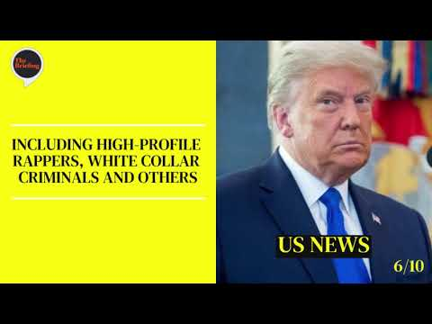 Trump to issue 100 pardons - Monday's 18/01/2021 News Briefing