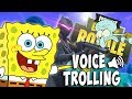 Spongebob Voice Trolling on Fortnite! (Priceless Reactions) Spongebob Voice Impressions
