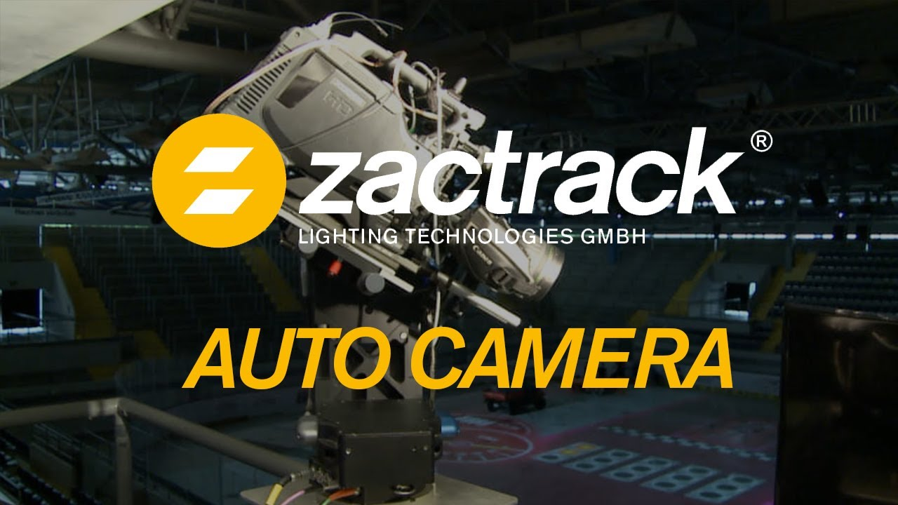 zactrack controls professional broadcast cameras