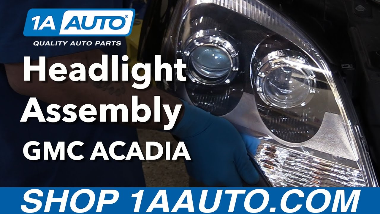 How to Install Replace Headlights 2010-12 GMC Acadia Denali Buy Auto  Acadia Hid Wiring Diagram on acadia coolant temp sensor, acadia engine diagram, acadia transmission diagram, acadia ac diagram, acadia parts diagram, acadia fuse diagram, acadia headlight bulb replacement,
