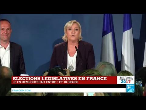 REPLAY - Législatives 2017 : Discours de Marine Le Pen après le premier tour