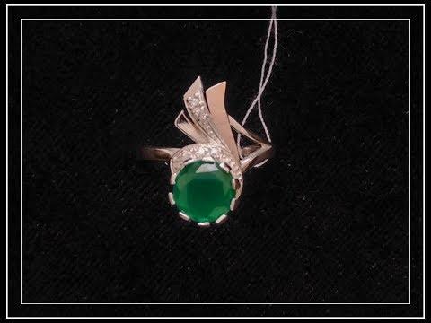 Нежное серебряное кольцо с камнем 007