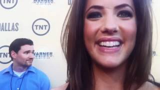 Julie Gonzalo at the DALLAS premier by Vanessa Lua for whatthehelldidshesaycom