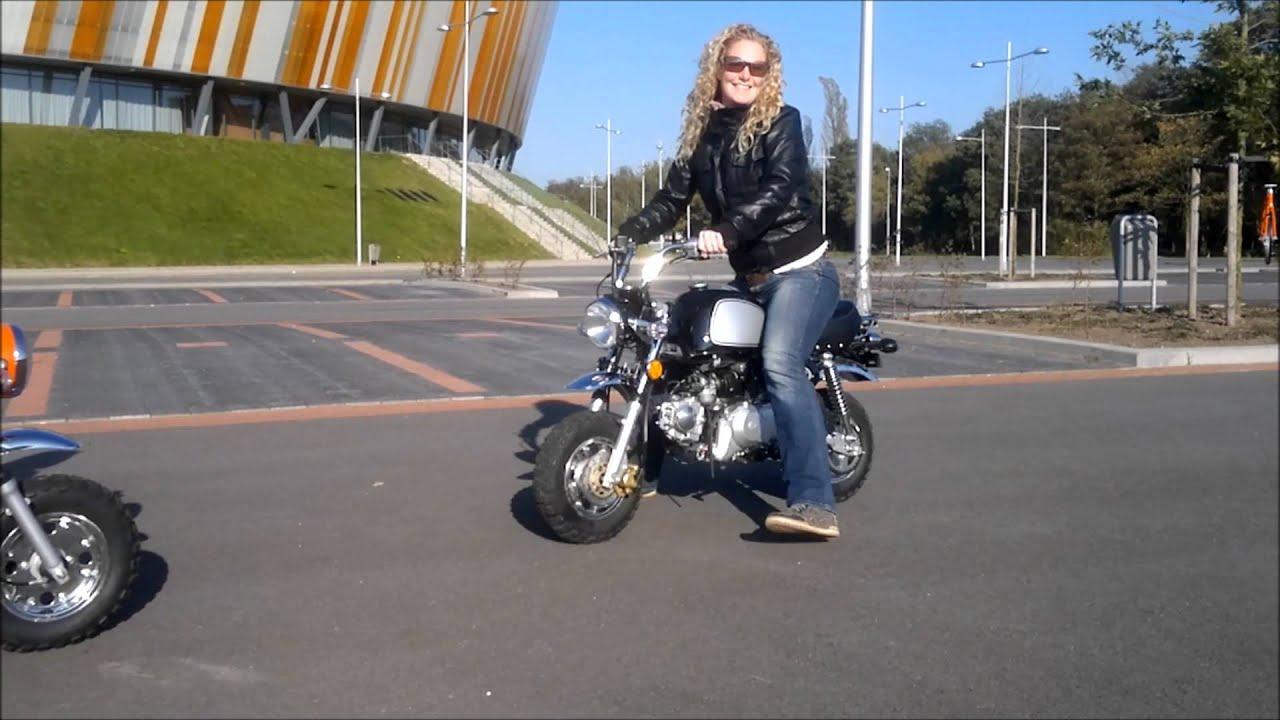 Girl With Bike Hd Wallpaper Honda Monkey And Gorilla Promo Wmv Youtube