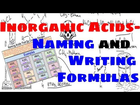 Inorganic Acids - Naming and Writing Chemical Formulas
