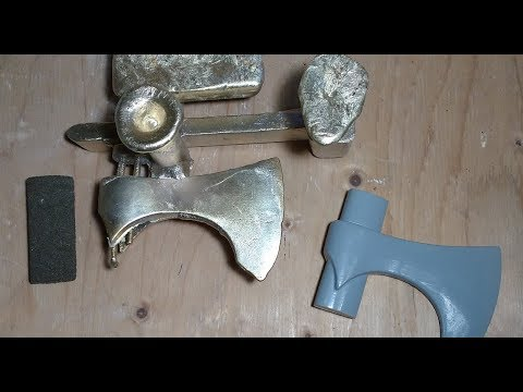 Bronze Age Axe From the World of Westeros, Part 1: Sand Casting Aluminum Bronze Using Cores