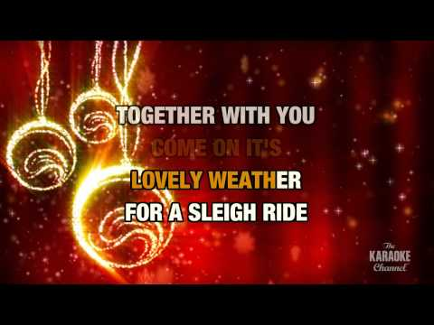 Sleigh Ride in the style of Johnny Mathis | Karaoke with Lyrics