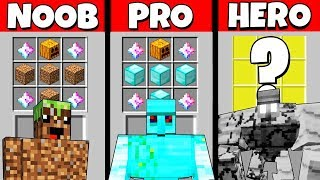 Minecraft Battle: NOOB vs PRO vs HEROBRINE: GOLEM CRAFTING CHALLENGE / Animation