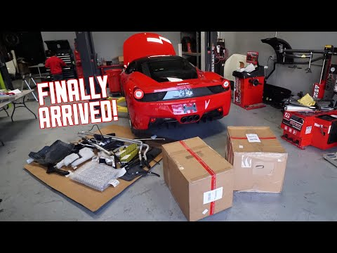 Ferrari 458 PARTS ARE HERE! Let's get building!