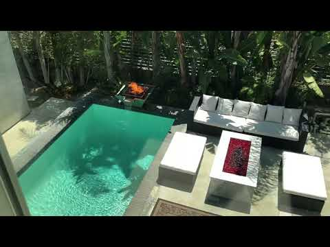 Sunset strip Hollywood hills architectural home